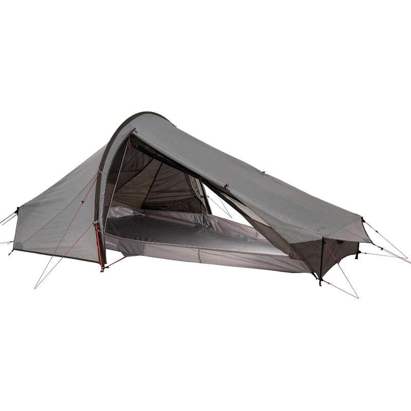 TENTS, TENTS ACCESSORIES TREK Trekking - Quickhiker Ultralight 2 Hiking Tent - 2 Man, Grey FORCLAZ - Trekking