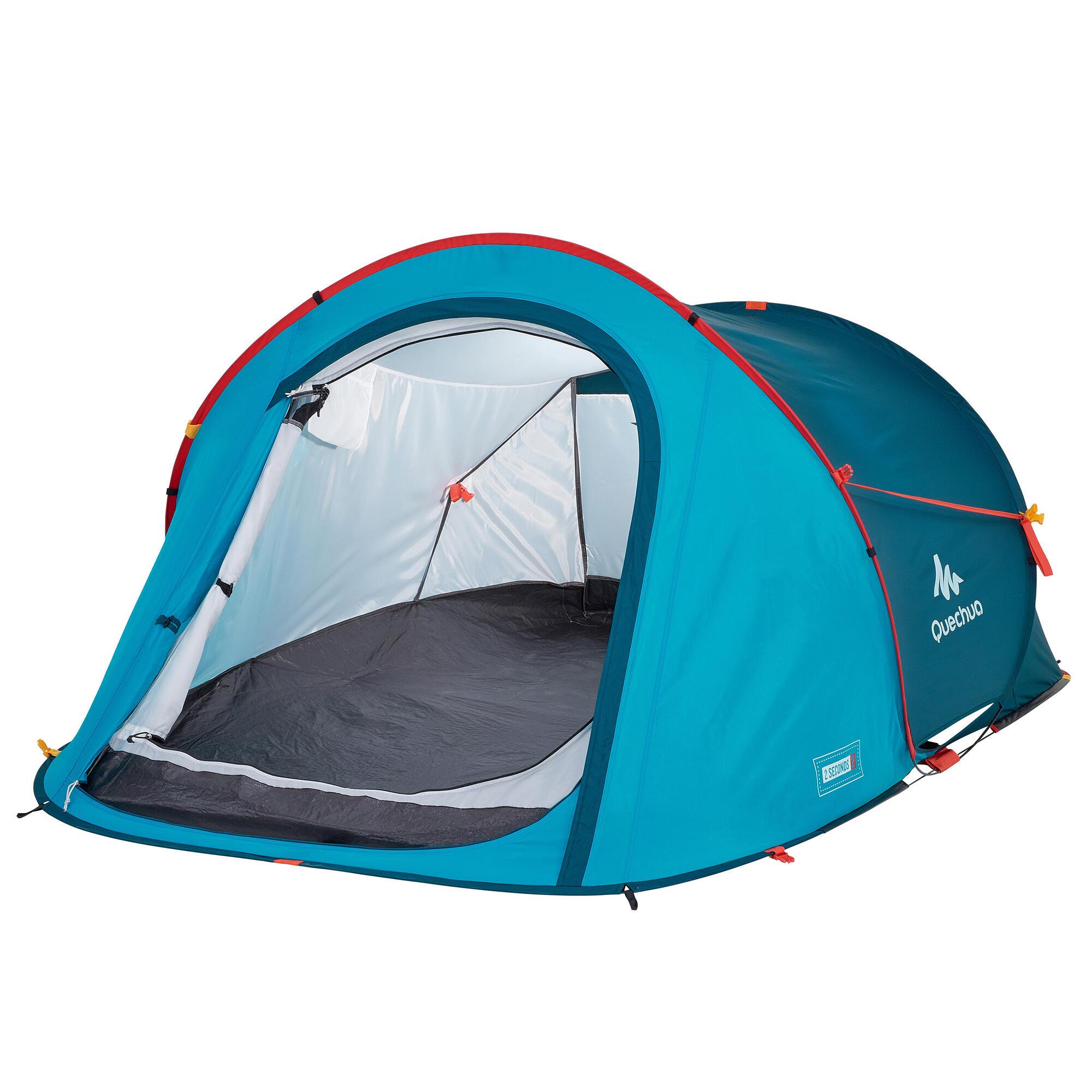 tente de camping 2 seconds 2 personnes bleu p trole quechua. Black Bedroom Furniture Sets. Home Design Ideas