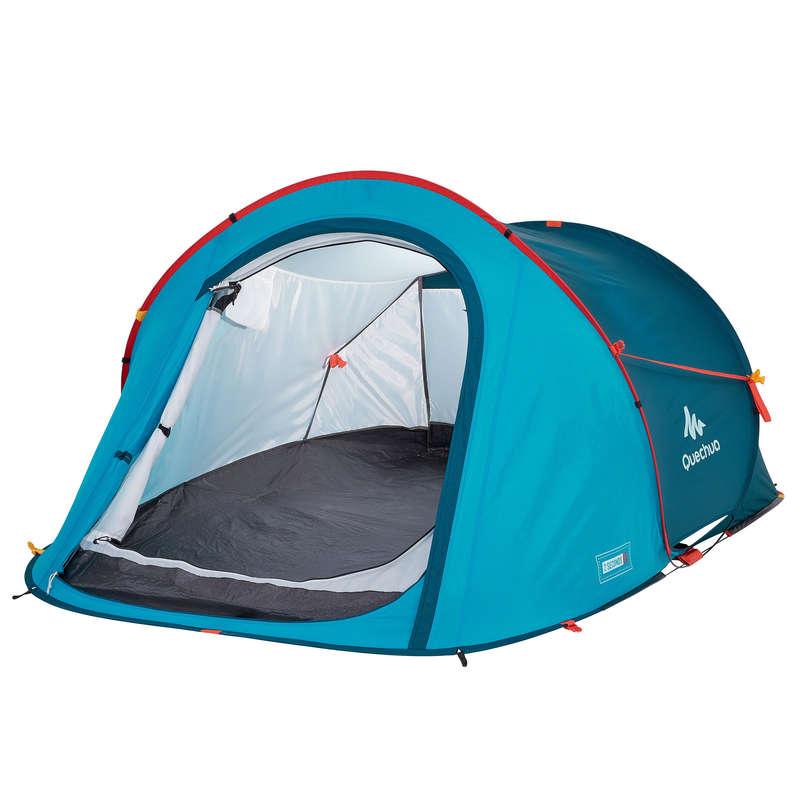 TOURING CAMP TENTS, TARPS Camping - 2 SECONDS - BLUE - 2P QUECHUA - Tents