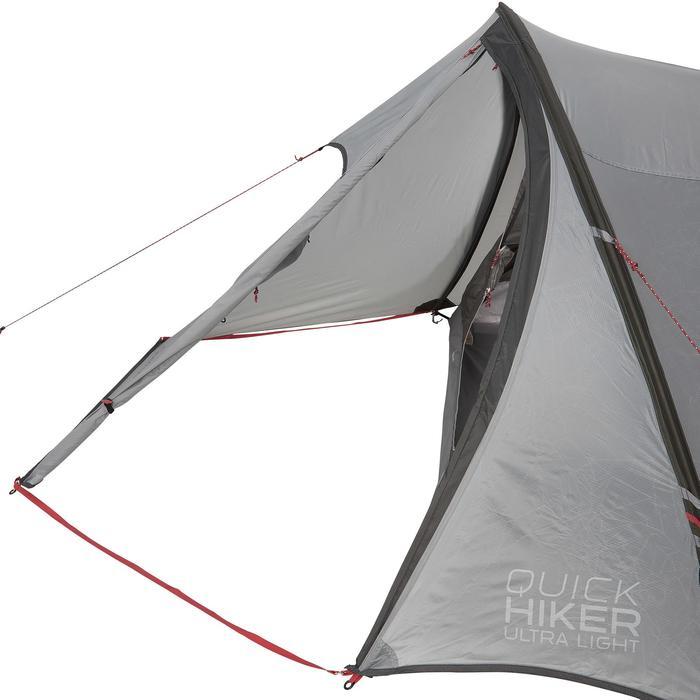 Tente de trek Quickhiker Ultralight 3 personnes gris clair - 1259844