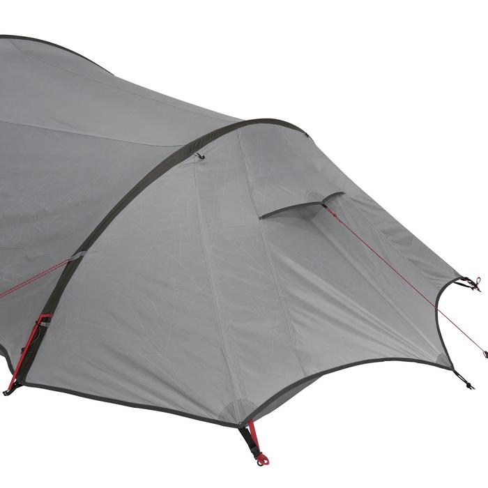 Tente de trek Quickhiker Ultralight 3 personnes gris clair - 1259853