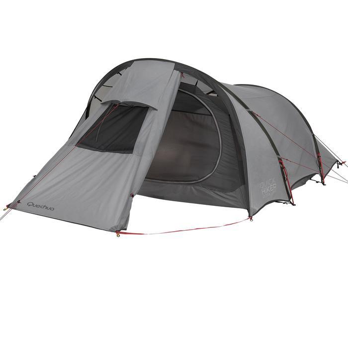 Tente de trek Quickhiker Ultralight 3 personnes gris clair - 1259856