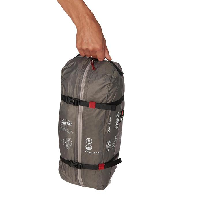 Tente de trek Quickhiker Ultralight 2 personnes gris clair - 1259864