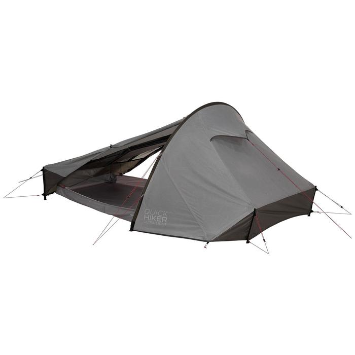 Tente de trek Quickhiker Ultralight 2 personnes gris clair - 1259870