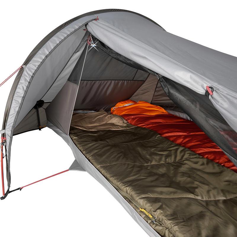 Carpa de camping de trekking Quickhiker Ultralight 2 personas gris claro