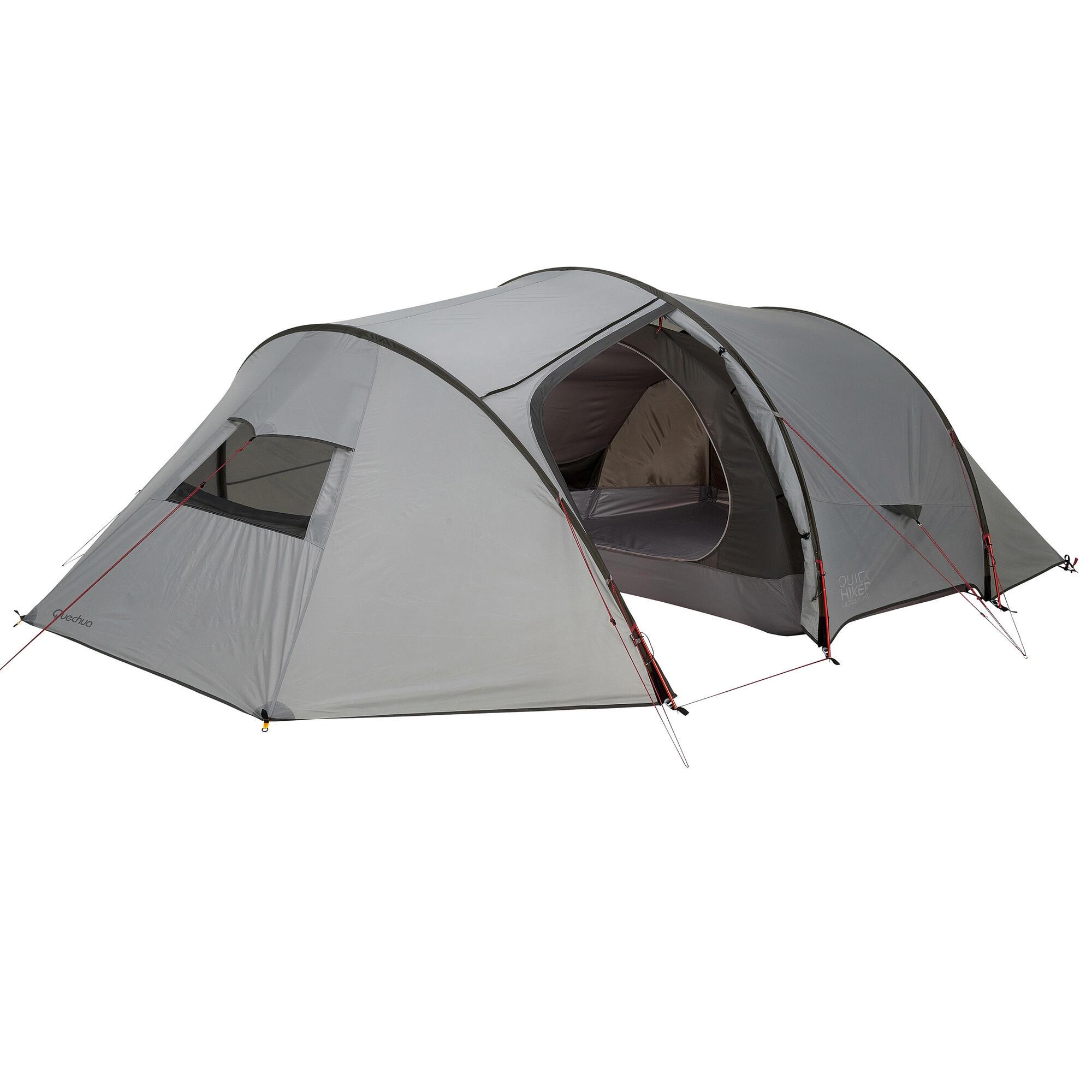 tente de trek quickhiker ultralight 4 personnes gris clair quechua. Black Bedroom Furniture Sets. Home Design Ideas