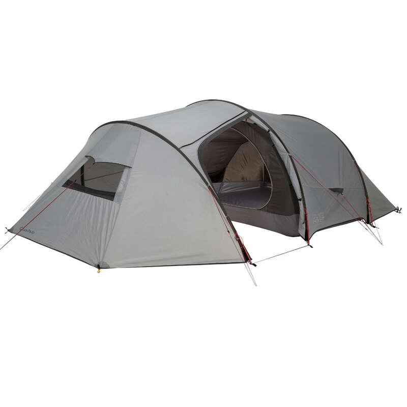 TENTS, TENTS ACCESSORIES TREK - Quickhiker Ultralight 4 Hiking Tent - 4 Man, Grey FORCLAZ