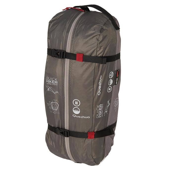 Tente de trek Quickhiker Ultralight 2 personnes gris clair - 1259894