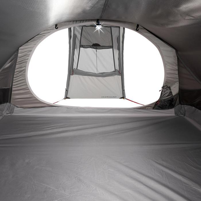 Tente de trek Quickhiker Ultralight 3 personnes gris clair - 1259898