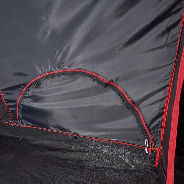 Tienda de Campaña Quechua Air Second 5.2 FRESH&BLACK | 5 Personas 2 Habitaciones