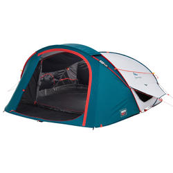 Pop up tent 2 Seconds 3 XL Fresh & Black 3 personen wit