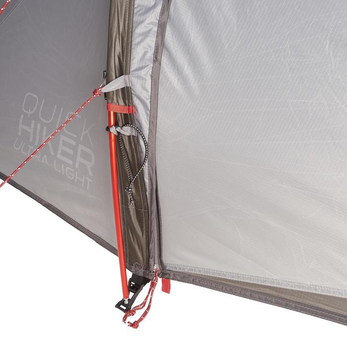 Tente de trek Quickhiker Ultralight 2 personnes gris clair - 1259907