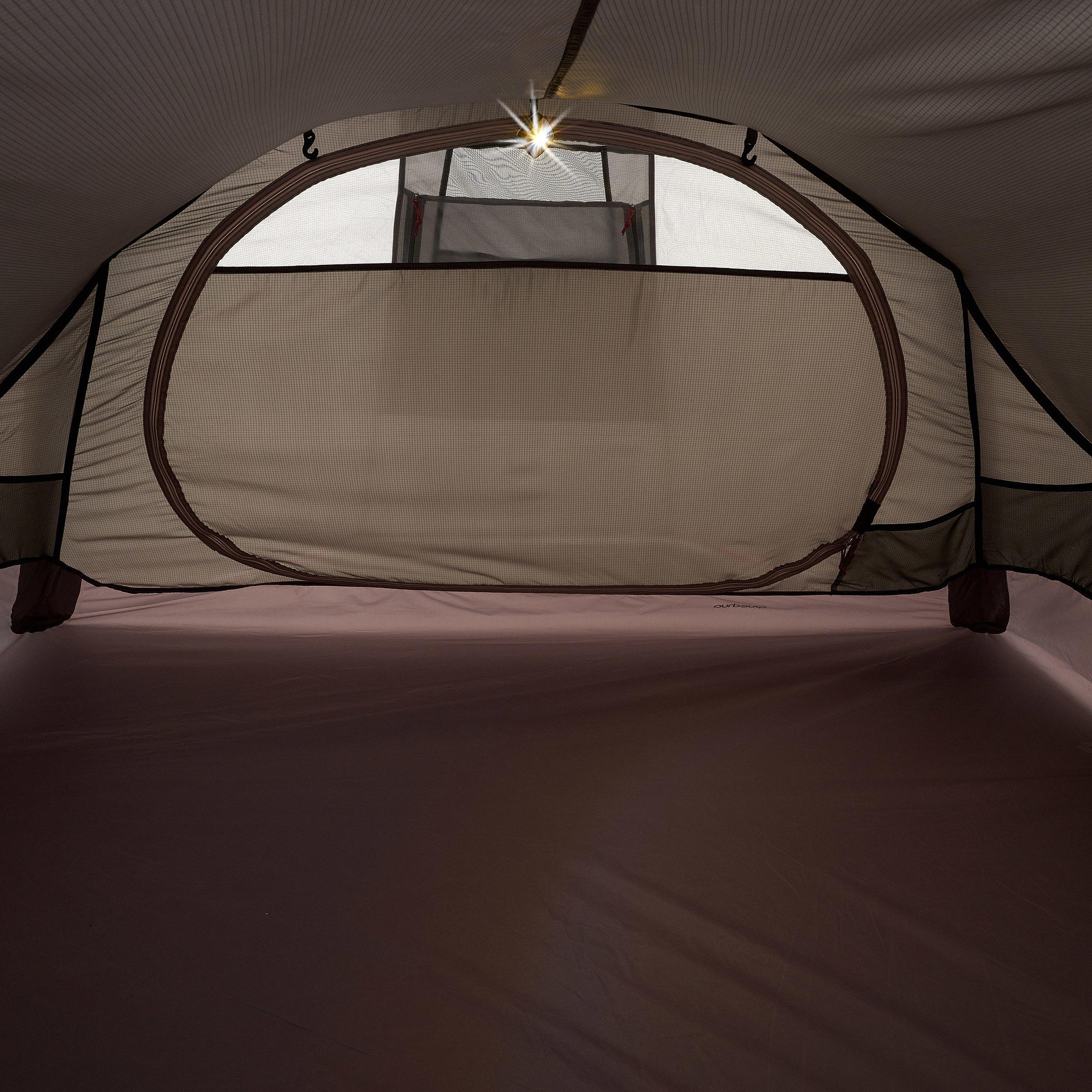Tente de trek Quickhiker Ultralight 3 personnes gris clair