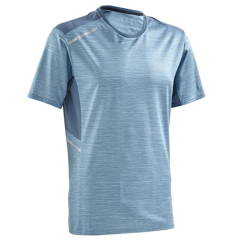 Hardloop T-shirt voor heren Run Dry+ lichtblauw