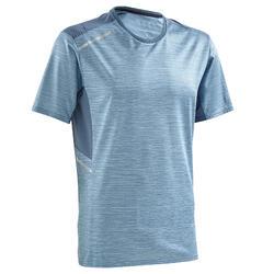 男士快乾透氣跑步T恤- 天藍色