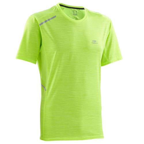 T-shirt running homme jaune run dry