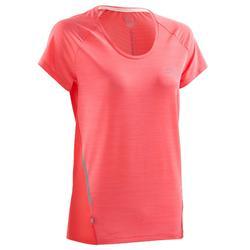 T-shirt korte mouwen Jogging Dames Run Light koraalrood