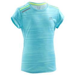 Run Dry+ Print Children's Athletics T-Shirt - Pink Purple