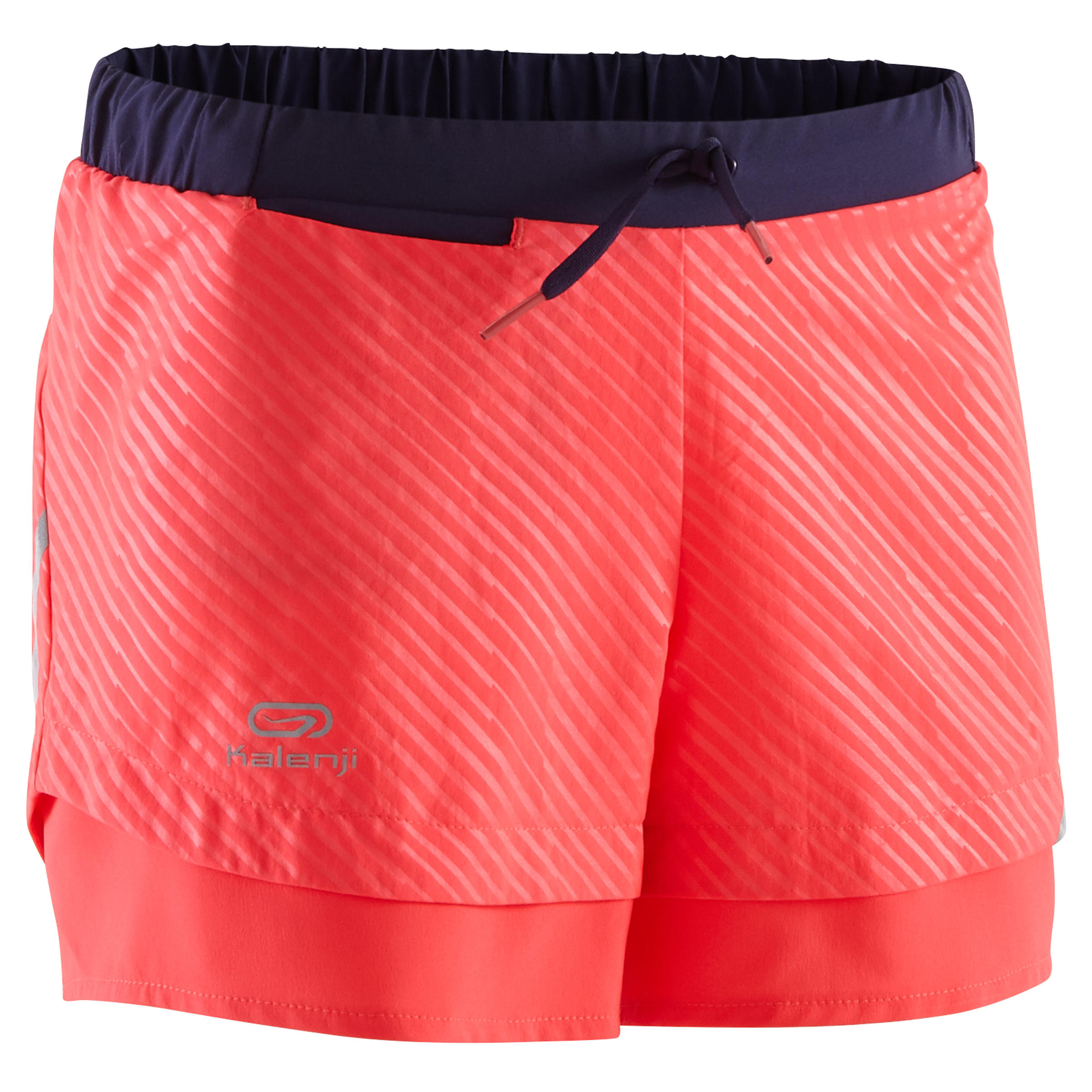 Run Dry children's athletics shorts fluorescent coral