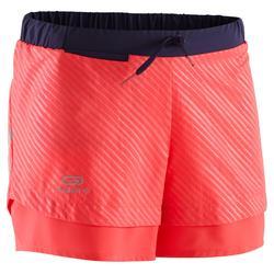 Short voor atletiek Run Dry roze/fluo-oranje/zwart