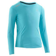 Sun Protect kids' athletics long-sleeved T-shirt - Turquoise