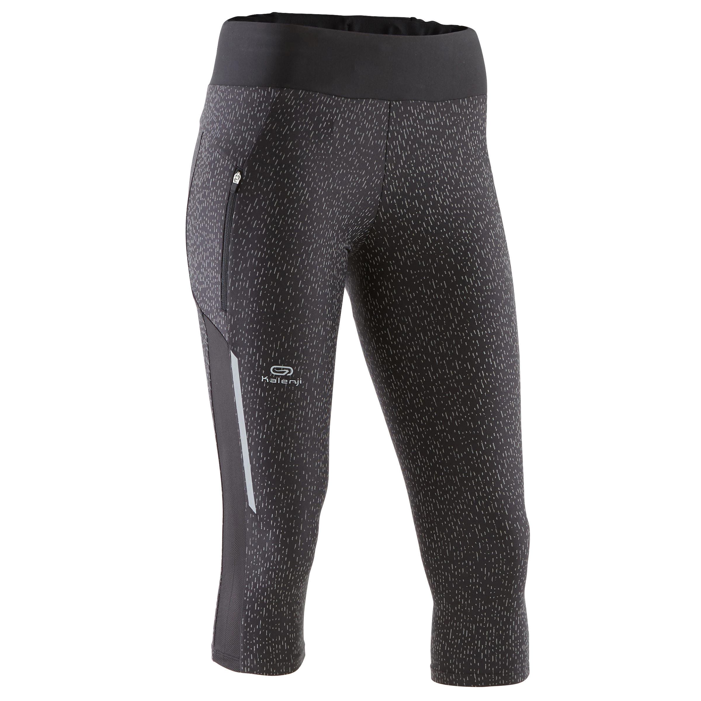 LEGGINGS 3/4 JOGGING MUJER RUN DRY+ REFLECT NEGRO