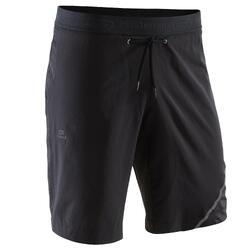 Pantalon Corto Deportivo RUNNING Kalenji RUN DRY + HOMBRE NEGRO