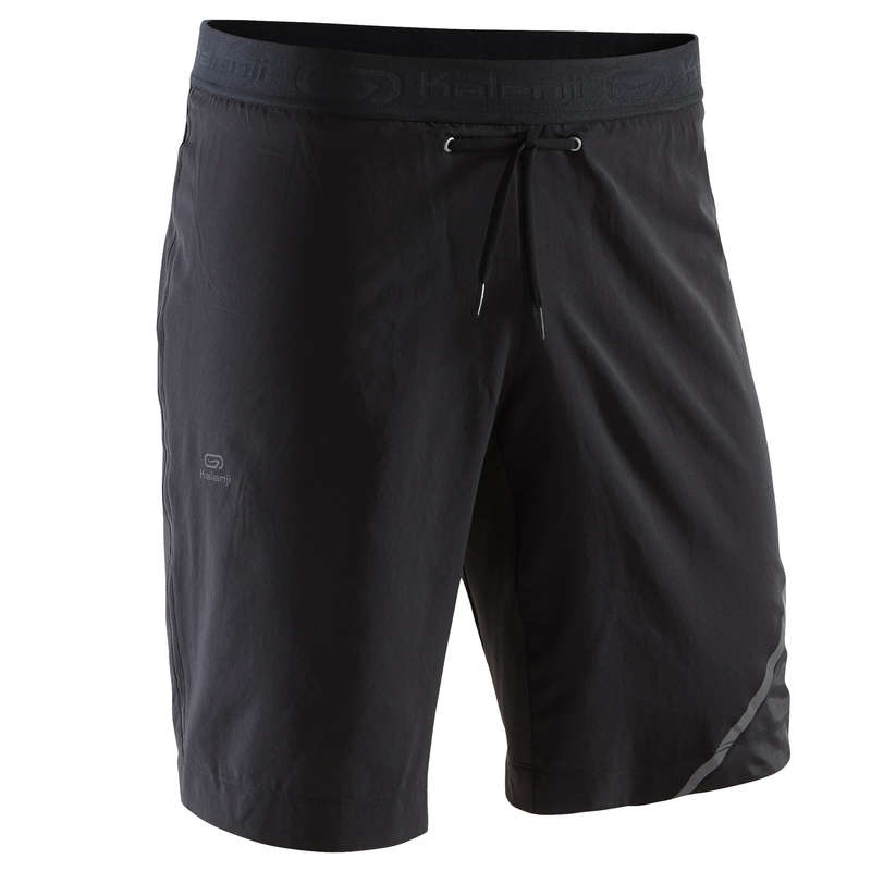 REGULAR MAN JOG WARM/MILD WTHR CLOTHES Clothing - RUN DRY+ MEN'S SHORTS LONG KALENJI - Bottoms