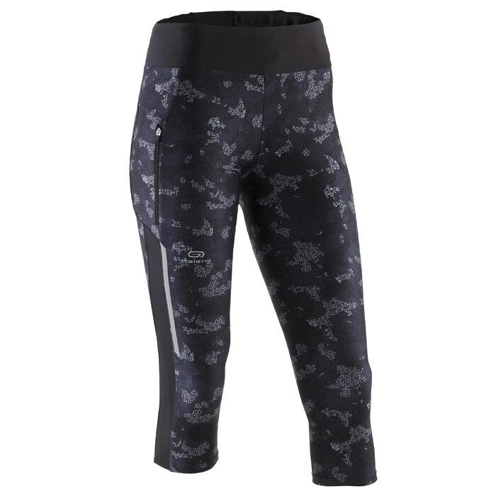 Kuitbroek hardlopen Run Dry+ voor dames camouflage zwart