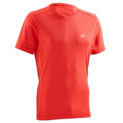 TEE SHIRT RUNNING RUN DRY ROUGE CERISE FLUO HOMME