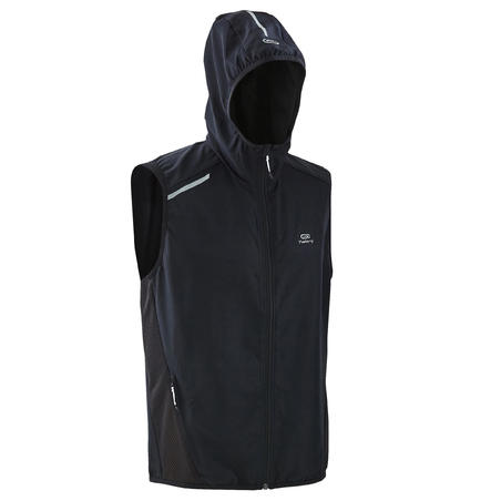 RUN WIND H MEN'S SLEEVELESS JACKET BLACK