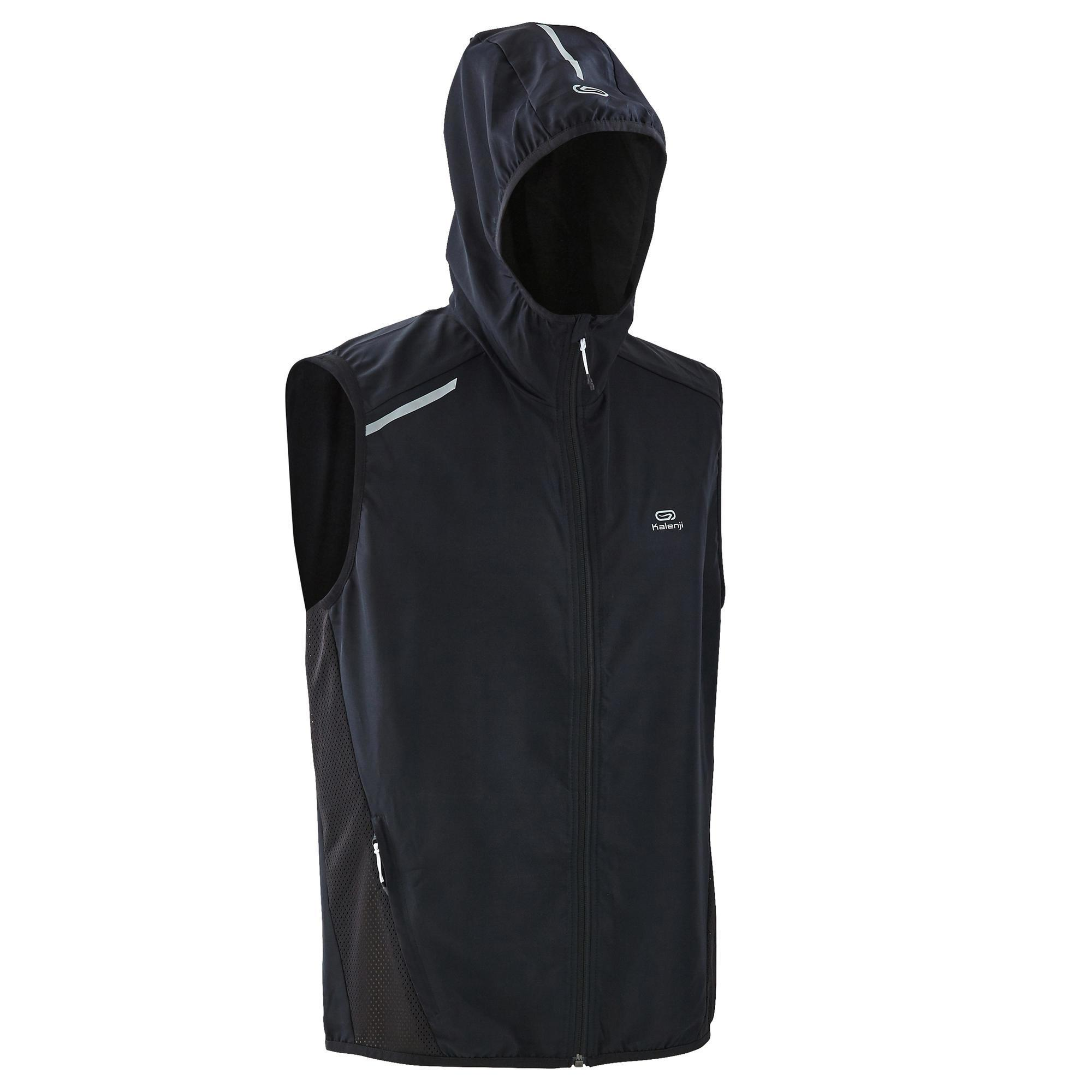 authorized site info for top quality VESTE SANS MANCHE RUNNING HOMME RUN WIND NOIR