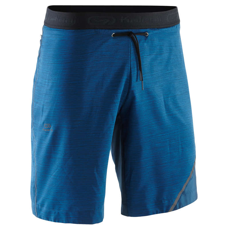 REGULAR MAN JOG WARM/MILD WTHR CLOTHES Clothing - RUN DRY+ M LONG SHORTS BLUE KALENJI - Bottoms