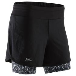 SHORT JOGGING MUJER RUN DRY+ 2 IN 1 NEGRO
