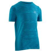 Otroška majica za atletiko Kiprun Care – morsko modra