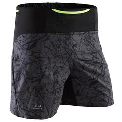 Short-mallas cortas trail running negro graph hombre