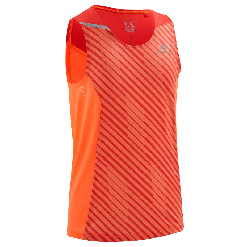 kiprun boy tank red