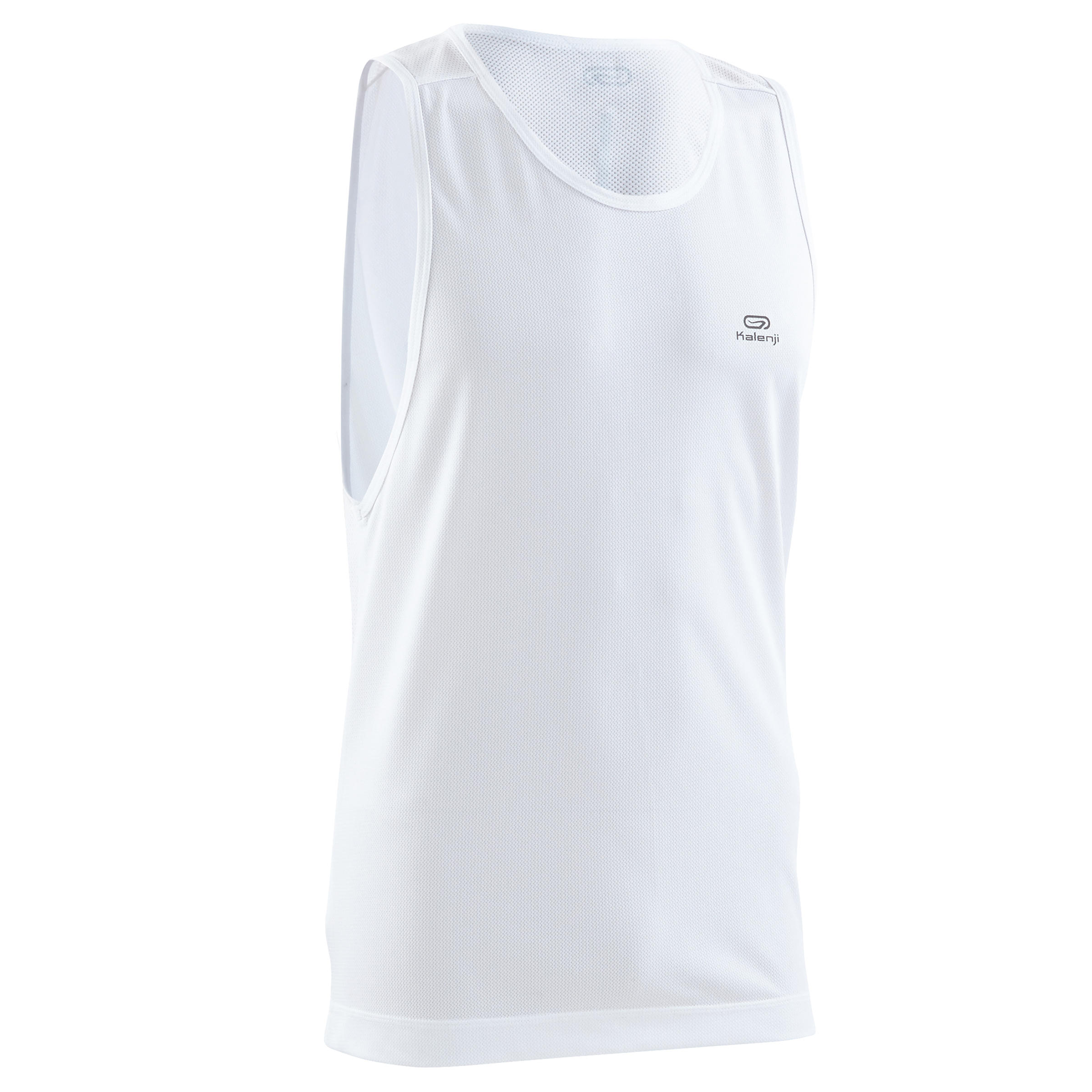 PLAYERA SIN MANGAS RUNNING HOMBRE RUN DRY BLANCO