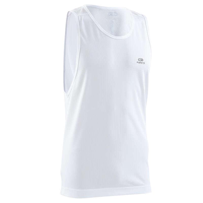 OCCAS MAN JOG WARM/MILD WTHR CLOTHES Clothing - RUN DRY MEN'S TANK TOP WHITE KALENJI - Tops