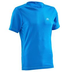 Camiseta Manga Corta Running Kalenji Run DRY Hombre Azul