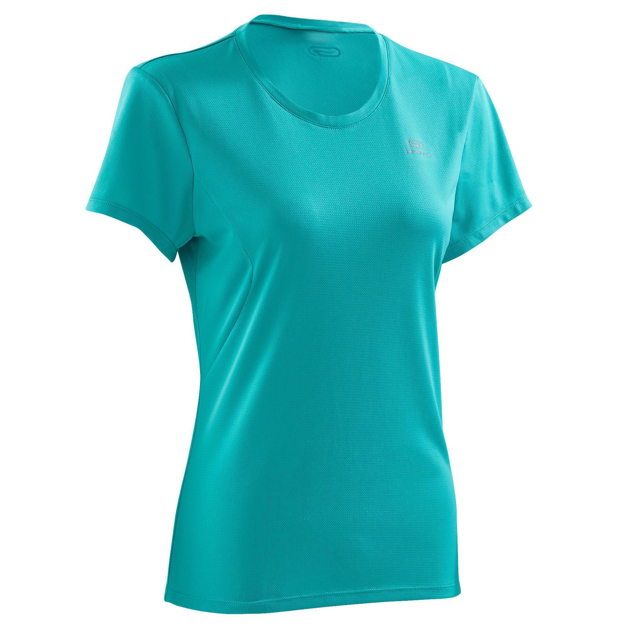 38c4ca2a558733 Kalenji Dames T shirt Run Dry voor hardlopen groen