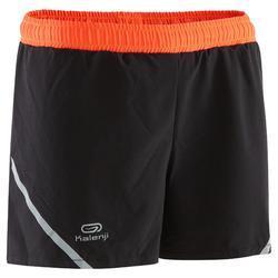 Short voor atletiek Kiprun zwart/fluorood