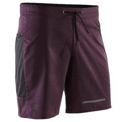 Loopshort heren Run Dry+ aubergine