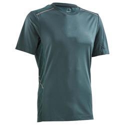 男士快乾透氣跑步T恤RUN DRY+ BREATHE - 墨綠色