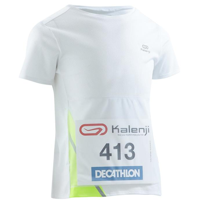 Tee shirt athlétisme enfant run dry dossard blanc - 1260020