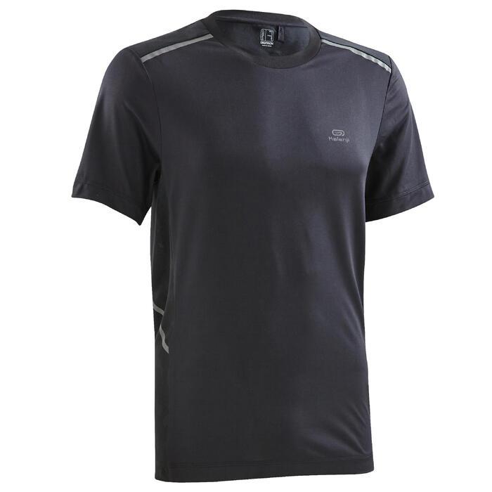 Camiseta Manga Corta Running Kalenji Run DRY+ Breathe Hombre Negro