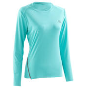 Run Sun Protect Women's Running Long-Sleeved T-Shirt - Green