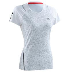 Camiseta Manga Corta Running Kalenji Run Dry+ Mujer Blanco Transpirable
