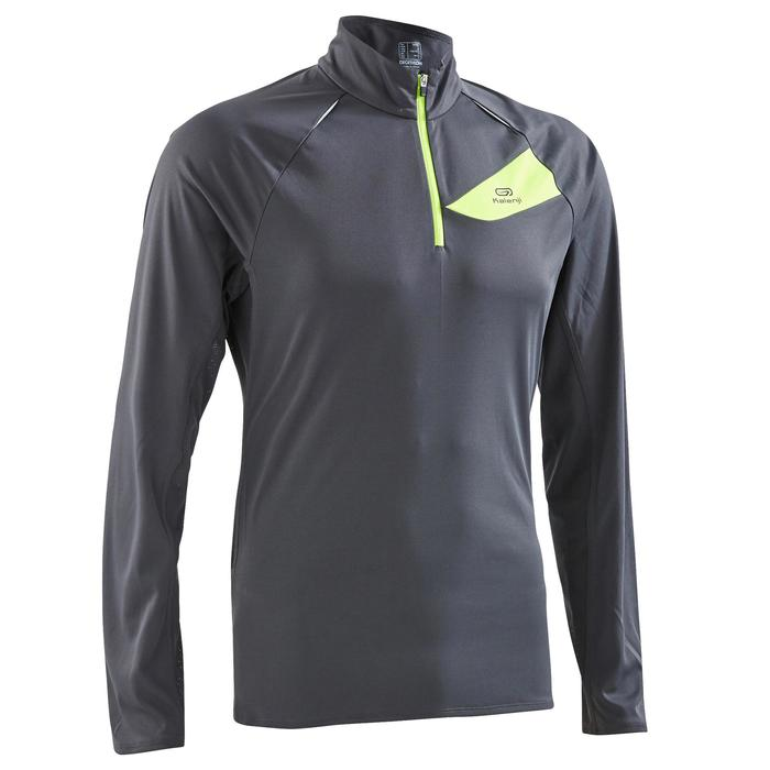 c8ba31f17519e Camiseta de manga larga trail running hombre gris oscuro amarillo ...