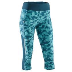 Run Dry + 女性跑步七分褲 斑紋灰